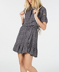 Printed High-Low Top & Printed Ruffled Skirt