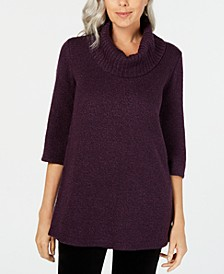 Petite Cowl-Neck 3/4-Sleeve Sweater, Created for Macy's