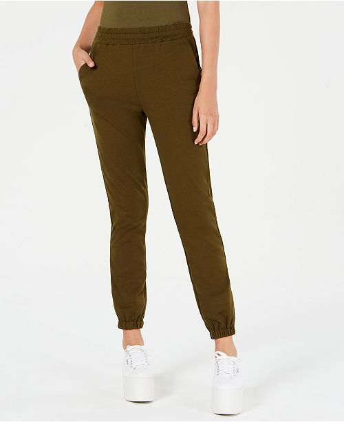 Waisted Cinched Mid-Rise Sweatpants