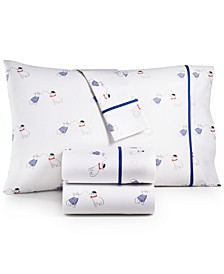Novelty Print California King 4-Pc. Sheet Set, 250 Thread Count 100% Cotton, Created for Macy's