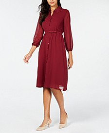 Belted Curvy-Fit Midi Shirtdress, Created for Macy's