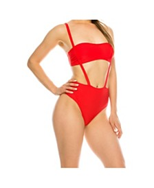 Kendall + Kylie Overall Bandeau 1 Piece Swimsuit