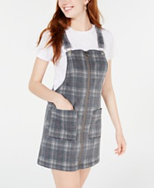 Tinseltown Juniors' Plaid Skirtall