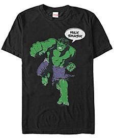 Men's Comic Collection The Hulk Smash Short Sleeve T-Shirt