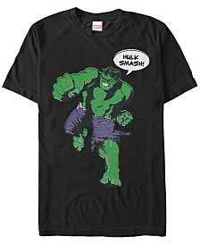 Marvel Men's Comic Collection The Hulk Smash Short Sleeve T-Shirt