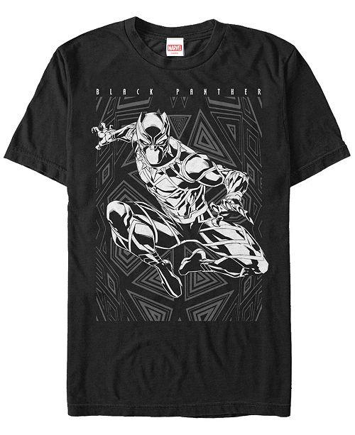 Marvel Men's Black Panther Action Pose Short Sleeve T-Shirt