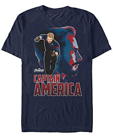 Marvel Men's Avengers Infinity War Captain America Pop Art Posed Profile Short Sleeve T-Shirt