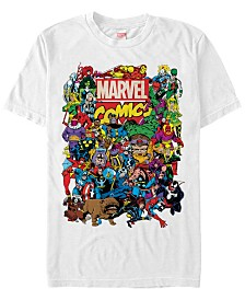 Marvel Men's Comic Collection The Entire Marvel Men's Cast Short Sleeve T-Shirt