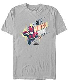 Men's Captain Marvel Higher, Further, Faster Captain Short Sleeve T-Shirt