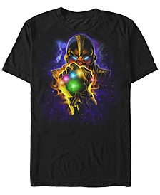 Men's Comic Collection Starry Thanos Fist Short Sleeve T-Shirt