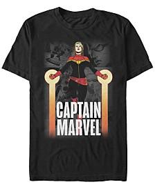Marvel Men's Comic Collection Captain Marvel Short Sleeve T-Shirt