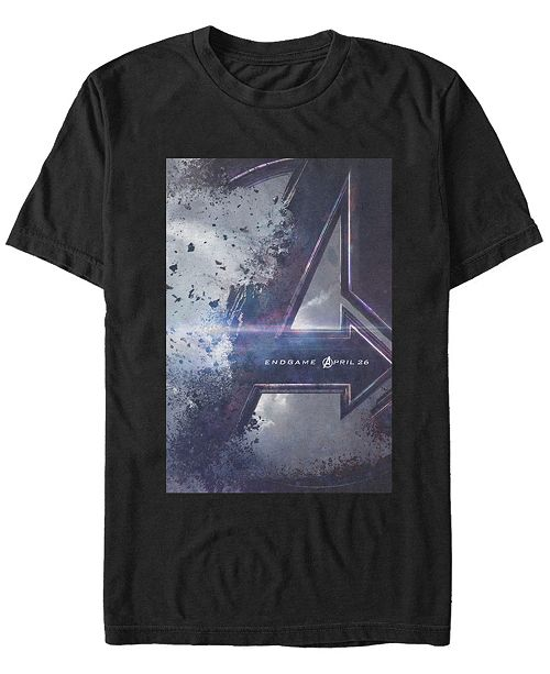 Marvel Men's Avengers Endgame Distorted Movie Poster Short Sleeve T-Shirt