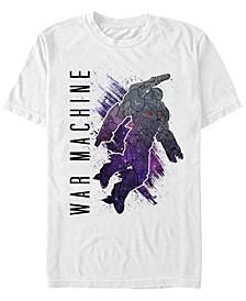 Men's Avengers Infinity War Galaxy Painted The War Machine Short Sleeve T-Shirt