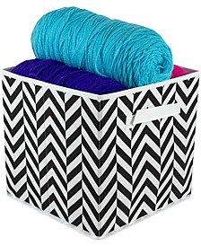 HDS Trading Chevron Collapsible Non-Woven Storage Cube