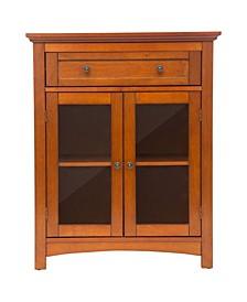 Shelved Floor Cabinet with Double Doors