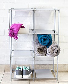HDS Trading Multi-Purpose Free-Standing 6 Cubed Organizing Storage Shelf