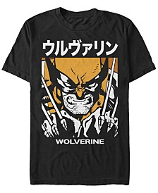 Marvel Men's Comic Collection Wolverine Kanji Style Poster Short Sleeve T-Shirt