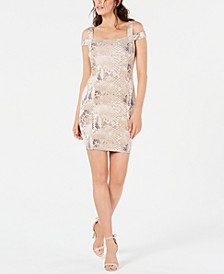 Snakeskin-Print Fitted Dress