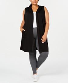 Ideology Plus Size Sleeveless Hoodie Vest