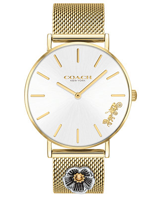 Women's Perry Gold Tone Stainless Steel Mesh Bracelet Watch 36mm by General