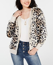 American Rag Juniors' Printed Zip-Up Jacket, Created for Macy's