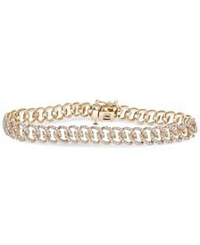 Diamond Oval Link Chain Bracelet (2 ct. t.w.) in 14k Gold