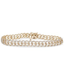 Diamond Oval Link Chain Bracelet (2 ct. t.w.) in 14k Gold