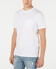 GUESS Men's Side-Taped Pima T-Shirt