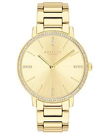 Women's Audrey Gold-Tone Stainless Steel Bracelet Watch 35mm