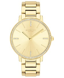 COACH Women's Audrey Gold-Tone Stainless Steel Bracelet Watch 35mm