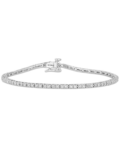 Macy's Diamond Tennis Bracelet (1 ct. t.w.) in 14k White Gold