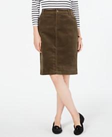 Charter Club Corduroy Tummy-Control Skirt, Created for Macy's