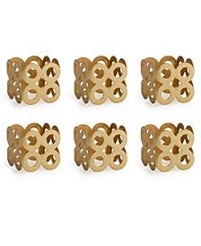 Square Die Cut Napkin Ring Set of 6