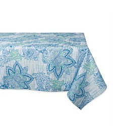 "Design Imports Paisley Print Outdoor Tablecloth 60"" x 120"""