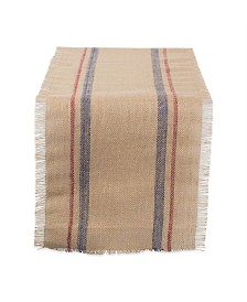 "Design Imports Burlap Table Runner 14"" x 72"""