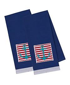 Design Imports Anchor Embellished Dishtowel Set of 2