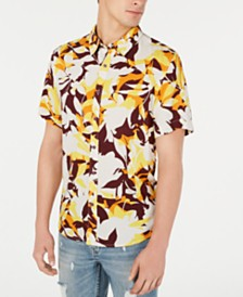 GUESS Men's Woodblock Floral Shirt
