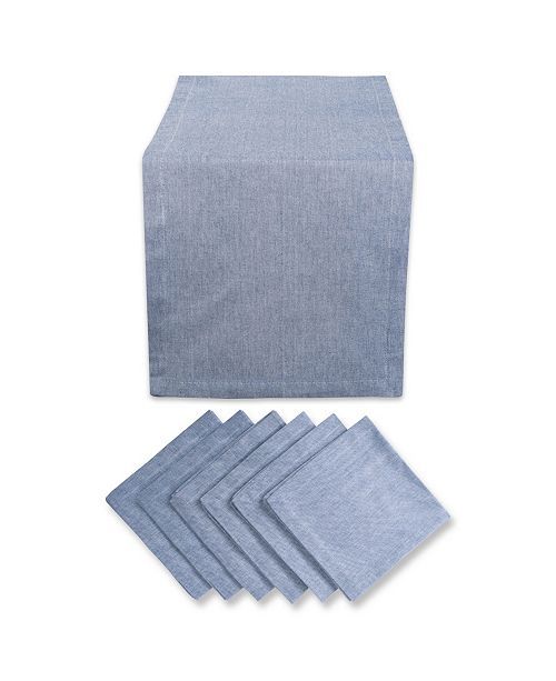 Design Import Table Set French Stripe Chambray Set of 7
