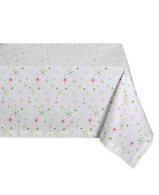 "Design Imports Christmas Star Print Table Cloth 60"" x 104"""