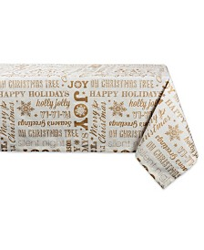 """Design Imports Christmas Collage Tablecloth 52"""" x 52"""""""