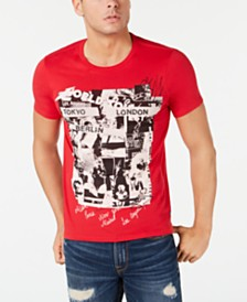 GUESS Men's World Tour Graphic T-Shirt
