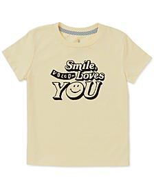 Toddler & Little Girls Smile-Print T-Shirt