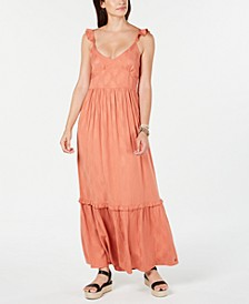 Juniors' Ruffle-Strap Maxi Dress
