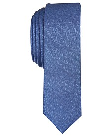 I.N.C. Men's Skinny Metallic Tie, Created for Macy's