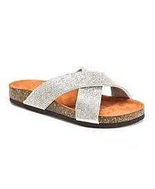 Olivia Miller Don't Be Tardy Embellished Sandals