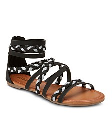 Olivia Miller High Tide Two Tone Strap Sandals