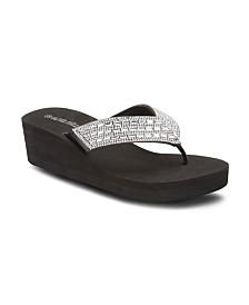 Olivia Miller Dare to Dream Wedge Sandals