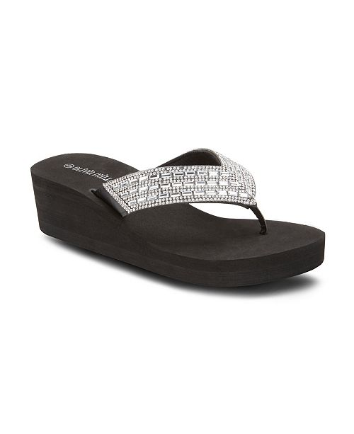 Olivia Miller Dare to Dream Wedge Sandals