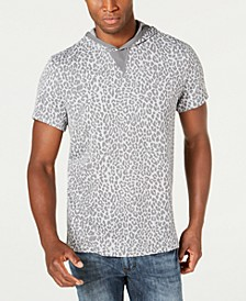 INC Men's Short-Sleeve Animal Print Hoodie, Created for Macy's