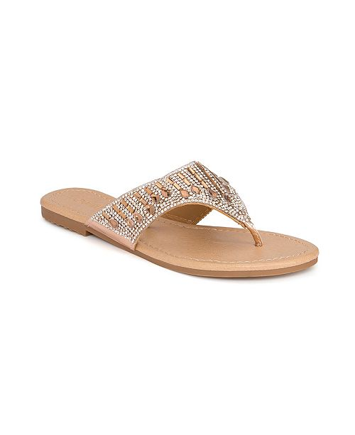 Olivia Miller Eustis Multi Tear Drop Rhinestone Sandals